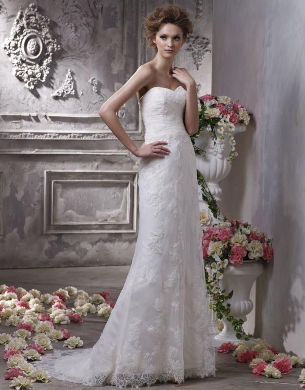 Lace column wedding dress uk cheap