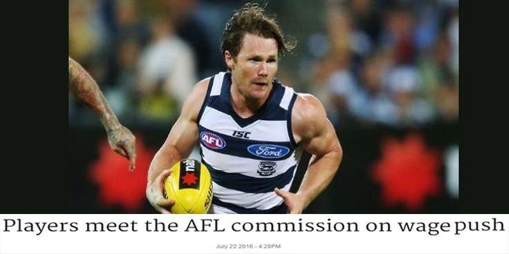 Patrick Dangerfield: One of a group of #players meeting with key #AFL officials to lobby for a set percentage of game revenue. - http://bit.ly/2a01fKO