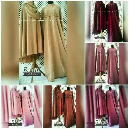 """A.BASIC"" (Gamis+Khimar+Cadar tali)  Nursing Friendly Khimar instan pet Fabric : Wolvis Lebar bawah : +/- 1,5m  Retail   : 260.000/set Reseller  :240.000/set  For Order:  Line @kni7746k  Wa 62896 7813 6777"