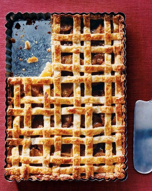 Lattice-Topped Vanilla Bean Pineapple Tart - Martha Stewart Recipes -makes me want to make Mondrian themed pies!