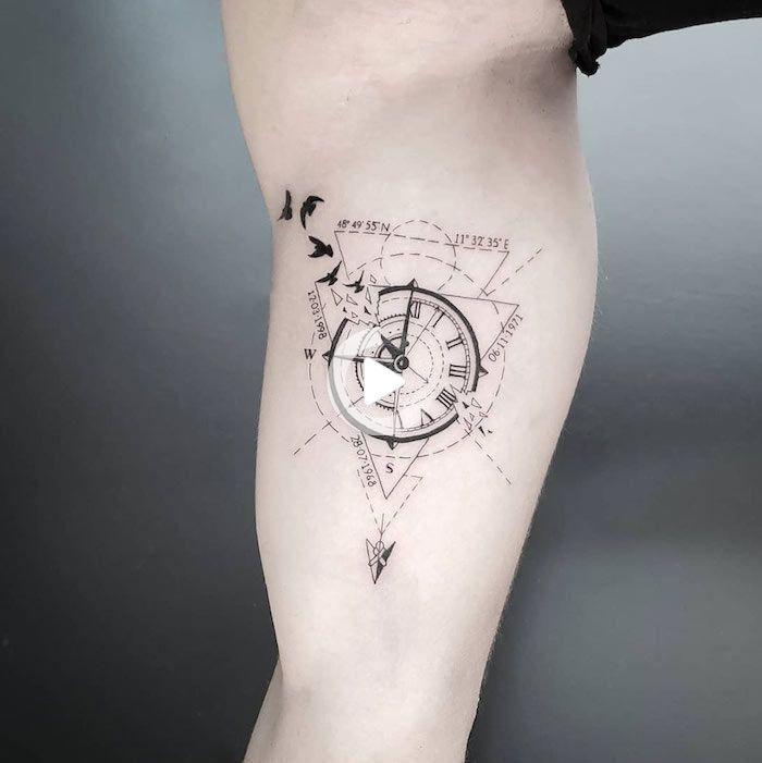 Motive kompass tattoos männer Schädel Mit