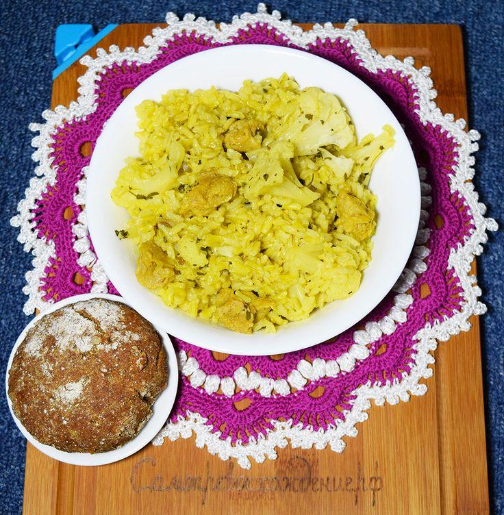 Рис с соей и цветной капустой