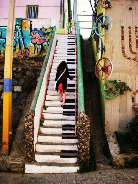 Graffiti Piano Stairs ilivemystyle streetart graffiti breakfree urbanspirit 8x4 deospray