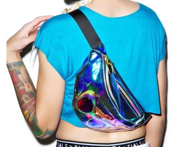 Hologram Holographic Stylish Cool Women Backpack Shoulder Waist Bag Fanny Packs