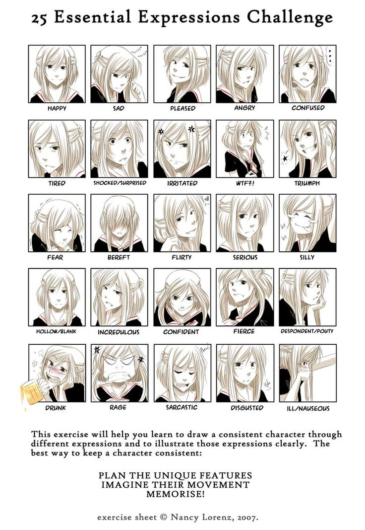25 Expressions Sheet