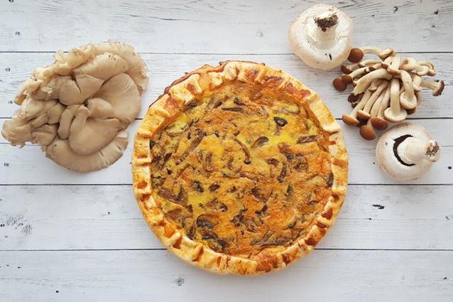 La quiche ai funghi è una torta salata a base di funghi, può essere riempita con formaggio filante, ed è una delle varianti più indicate per il periodo autunnale tra le quiche di verdure