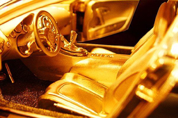 Bling! $3.5m gold supercar