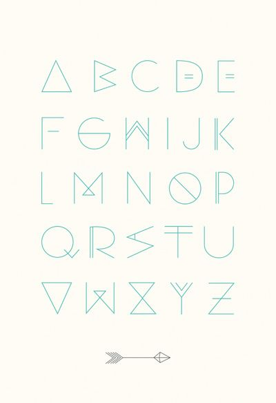 ABC Poster | OHMYHOME  #typography #lettering #fonts