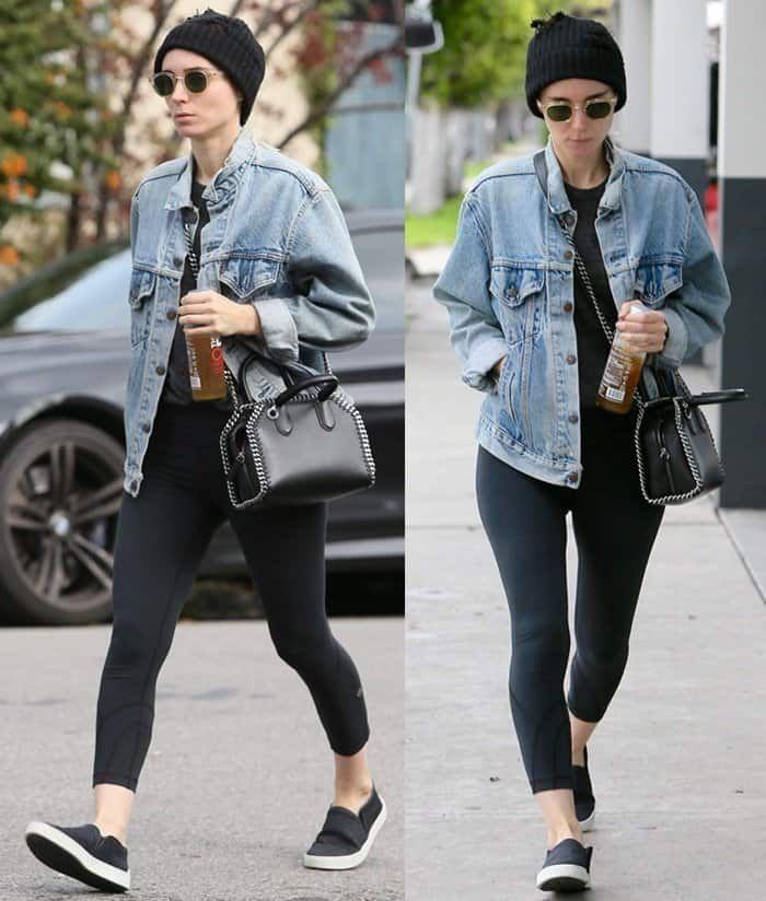 21568361621b Bare-Faced Rooney Mara Carries Stella McCartney  Falabella  Box Bag ...