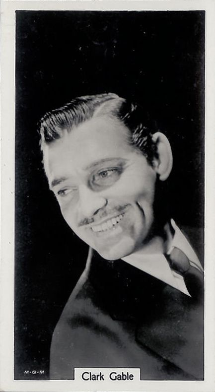 Clark Gable, 1939; cigarette card Lea
