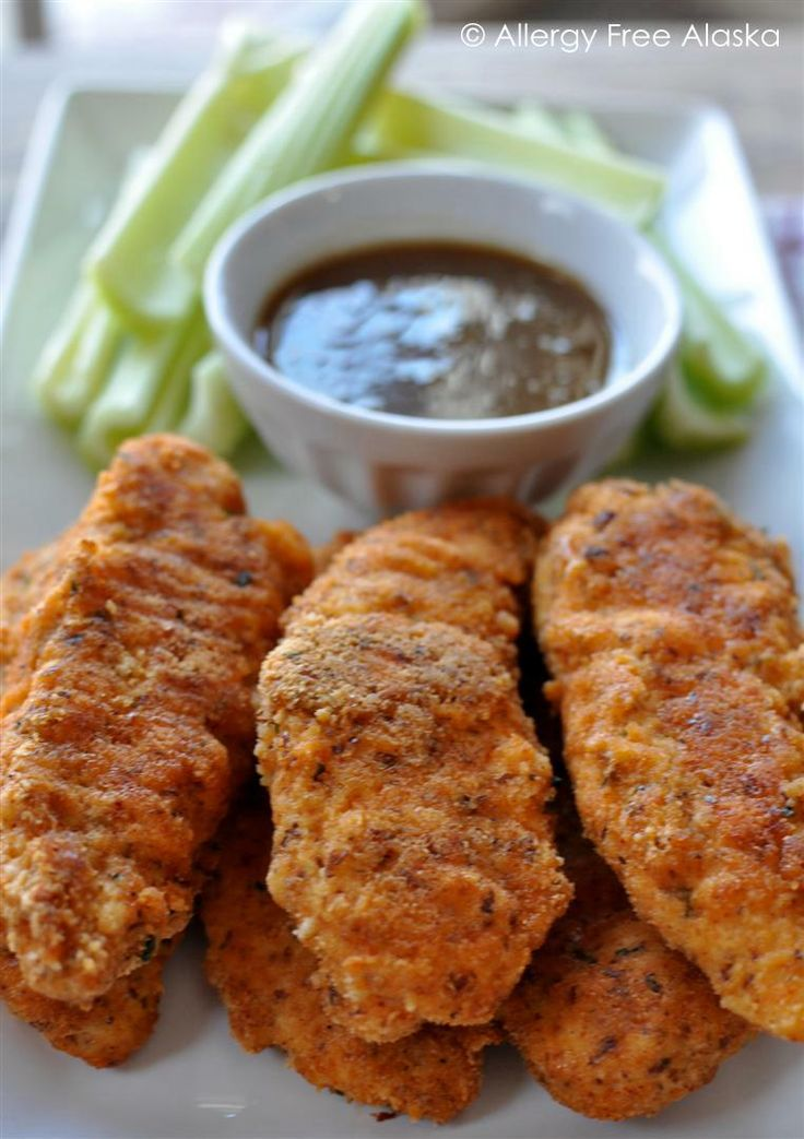 Paleo Chicken Tenders with Honey Mustard Dipping Sauce (grain-free, gluten-free, dairy-free)