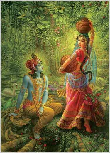 radha rani as the moon | Srimati Radharani has twenty-five transcendental qualities, and She ...