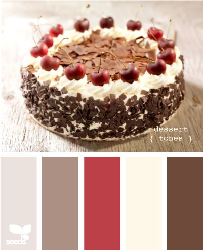 "dessert tones - the house is painted ""Swiss Coffee"" or as I like to say ""Frosting"" :) it goes amazingly well with a large palate of colors"