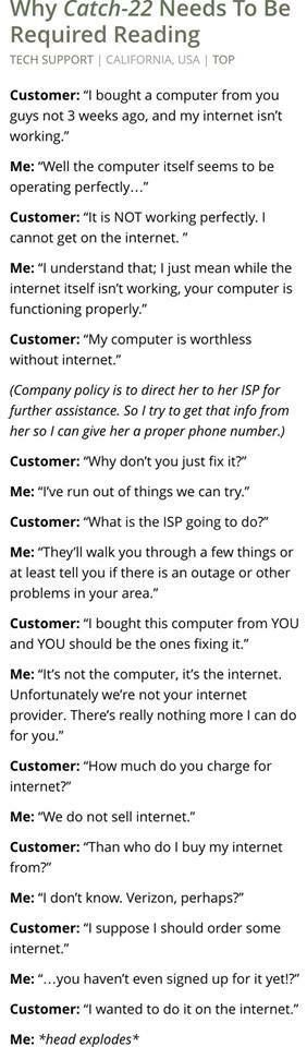 Life of an IT PERSONNEL << it's almost depressing how stupid some people honestly are