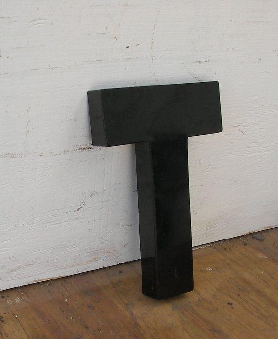 GREX Vintage, wall mount letter T on Etsy