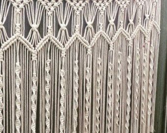 1.8m wide Handmade macrame wall hanging 1.8m x by GypsyAndLily