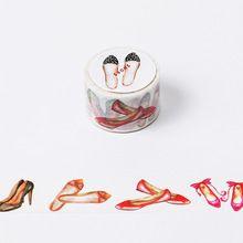3 cm * 8 m Fille Chaussures washi bande DIY décoration scrapbooking planificateur du ruban adhésif ruban adhésif étiquette autocollant papeterie(China (Mainland))