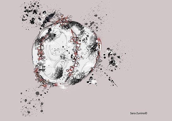 Digital drawing on Behance Explosion digital drawing 2013