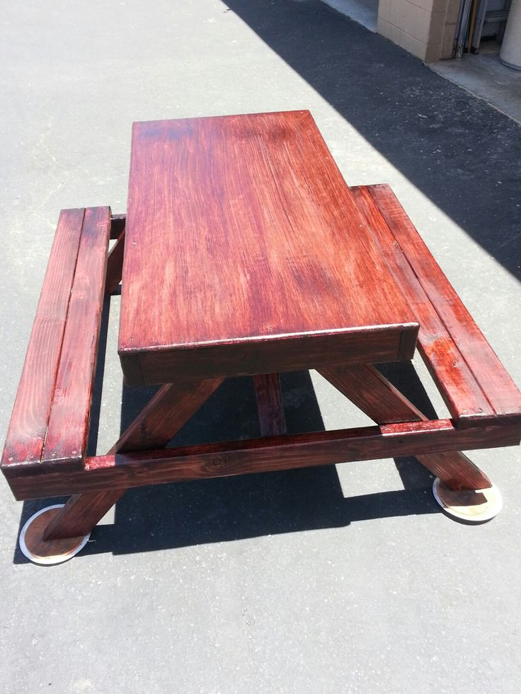 Kids 4ft Flat Top Activities Table. Mahogany Red Polyurethane $150 Part 45