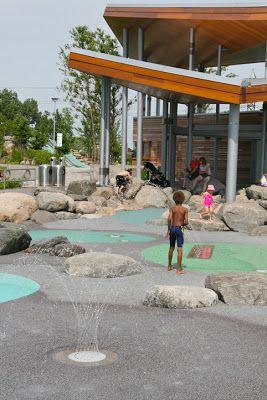 Toronto Fun Places: Really cool NEW splash pad: Corktown Common
