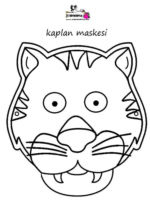 Kaplan Maskesi Boyama Sayfalari Anaokulu Temalari Sanat