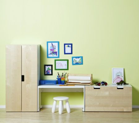 Children need a workspace of their own.  The STUVA bench is the perfect height for little ones!
