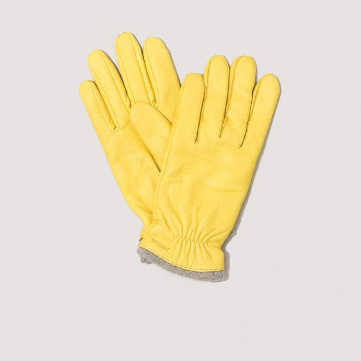 Samuel Gloves - Natural Yellow | Hestra | Peggs & son.