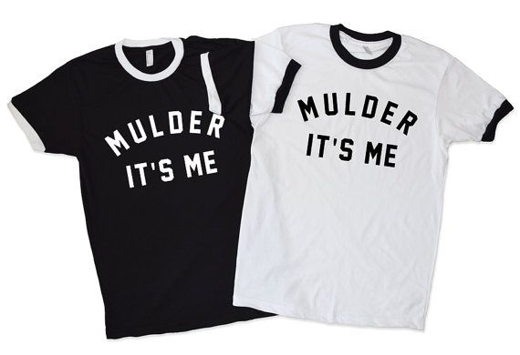 Mulder It's Me Ringer T-Shirt The X-Files Fox by MadeForHumans