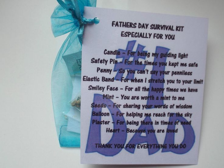 Fathers Day  DAD/STEP-DAD Novelty Survival Novelty Gift Fun Keepsake Unique  | eBay