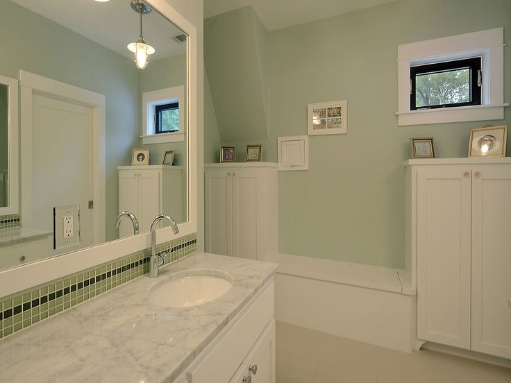 Bathroom with light green walls new house ideas for Bathroom decor light green