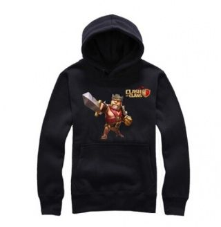 Clash of Clans pullover hoodies for men Barbarian King pattern