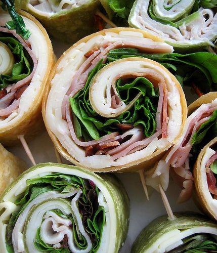 Pinwheels.  Easy party food.