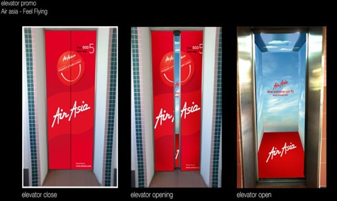 lift ad for air asia