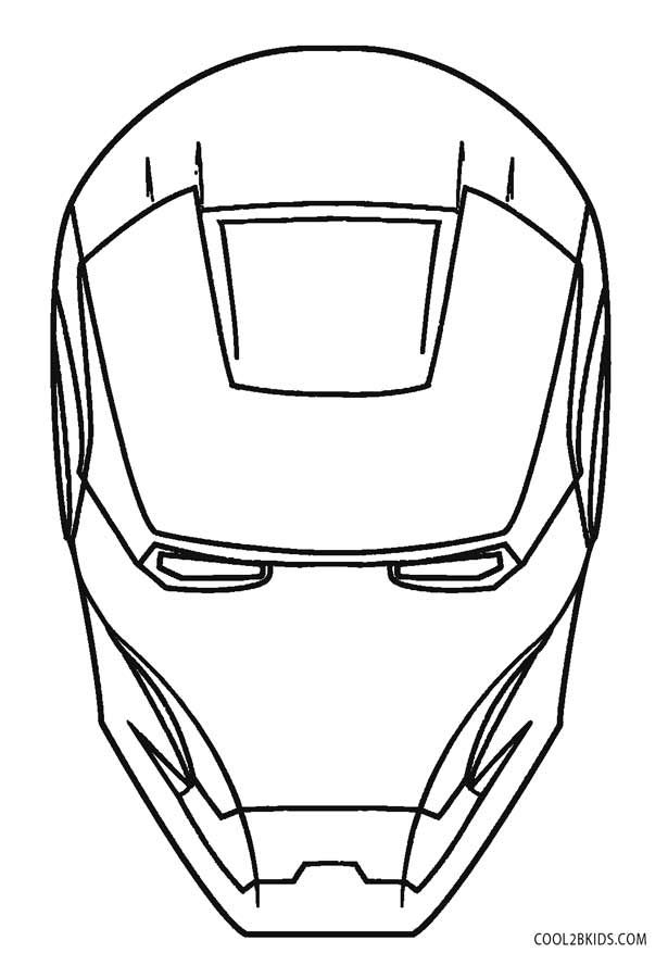 Iron Man Logo Coloring Pages Iron Man Face Iron Man Mask Avengers Coloring Pages