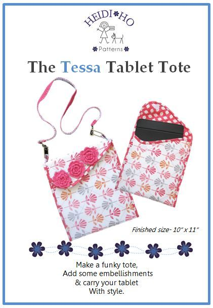 Make a funky tote for your tablet.