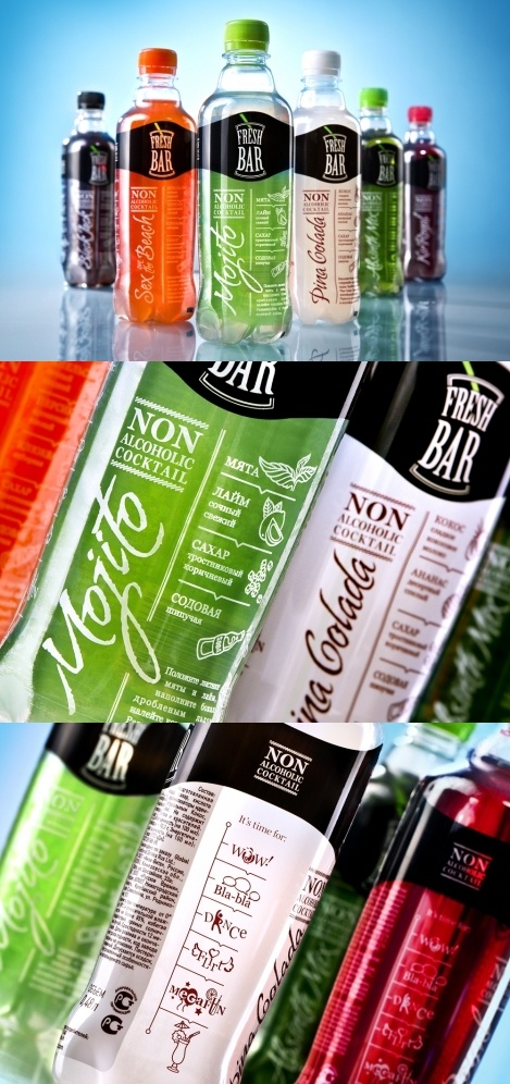 Fresh Bar non-alcoholic cocktail #packaging #design