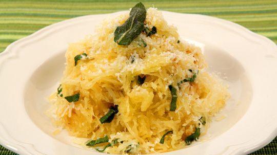 Spaghetti Squash with Herb Butter - Recipes - Best Recipes Ever - Spaghetti squash, so named because its flesh comes apart in long strands when cooked, gets dressed up in an easy way for a satisfying side dish.