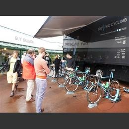 A recent visit from Team Sky at Guy Salmon Thames Dittion.