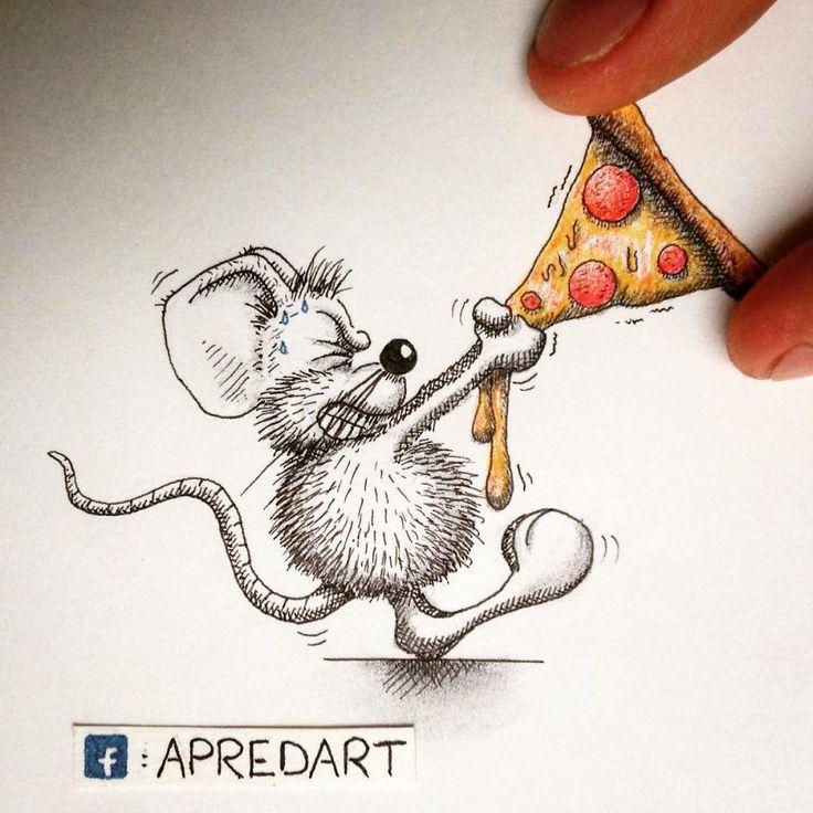 Une petite souris dessinée qui ne demande qu'à faire partie du monde réel