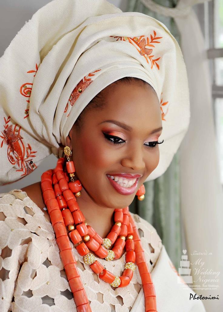 #NigerianWedding. Bride wearing traditional #Aso-oke ...