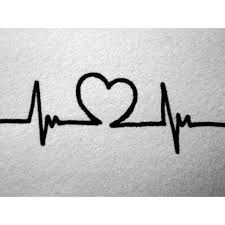 Image result for heartbeat tattoo                              …