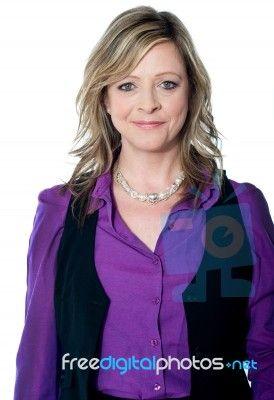 Pretty Senior Female Executive Stock Photo