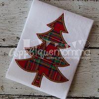 Simple Christmas Tree 2016 Applique Design
