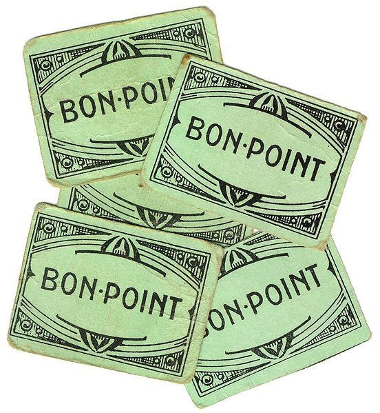 """Le """"Bon Point"""" distribué par la Maîtresse à l'école primaire, autant dire que j'en avais pas beaucoup... existe aussi en rose !"""