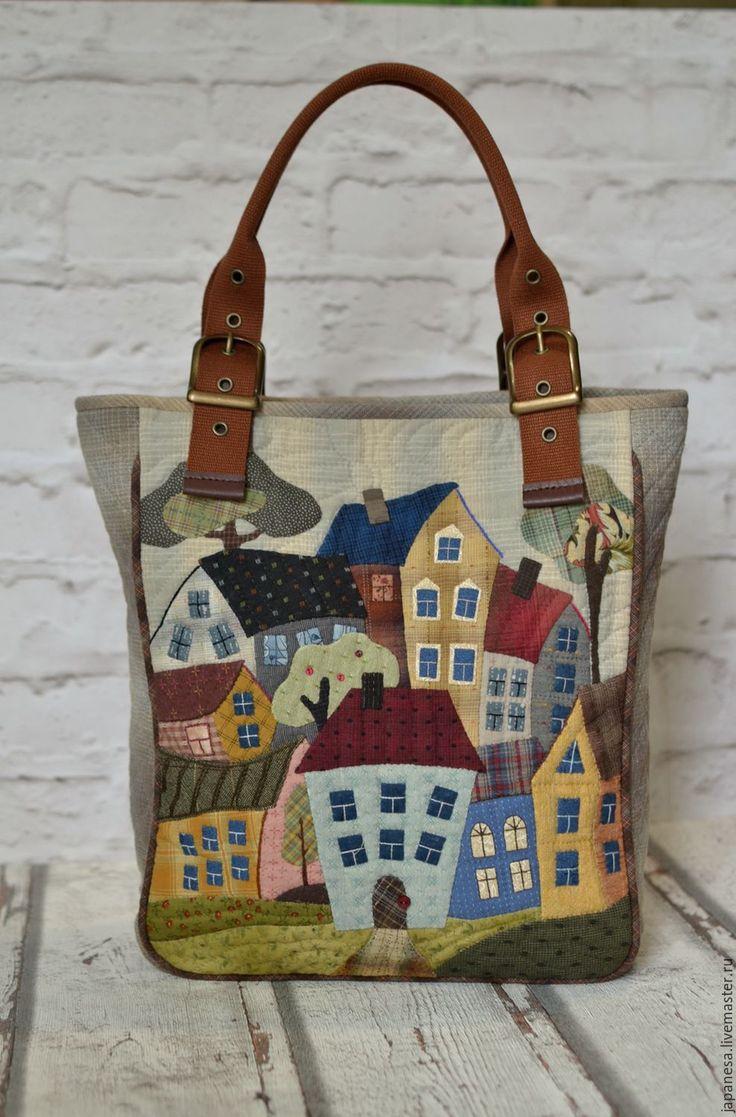 Купить или заказать Японская сумка 'Город' в интернет-магазине на Ярмарке Мастеров. Для Вас большая сумка для ежедневной радости и комфорта. Специально для русских Девушек сумочка оснащена удобными большими разнообразными карманами. Материалы из Японии исключительного качества. Сумочку можно носить и через плечо и на руке и в руке. Стильные ручки это позволят вам сделать. Максимальная длина 62 см.