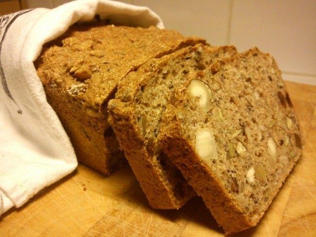 GI-bröd med nötter!