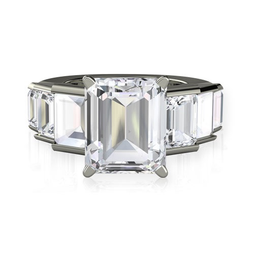 OMG, it's just like Angelina's engagement ring!!!  Evelyn Ring, Emerald-Cut Rock Crystal Sterling Silver Ring from Gemvara