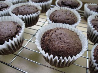 double chocolate avocado muffins by eatme_delicious, via Flickr