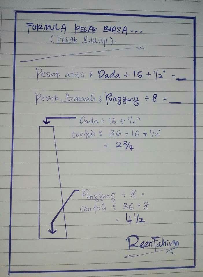 Formula pesak
