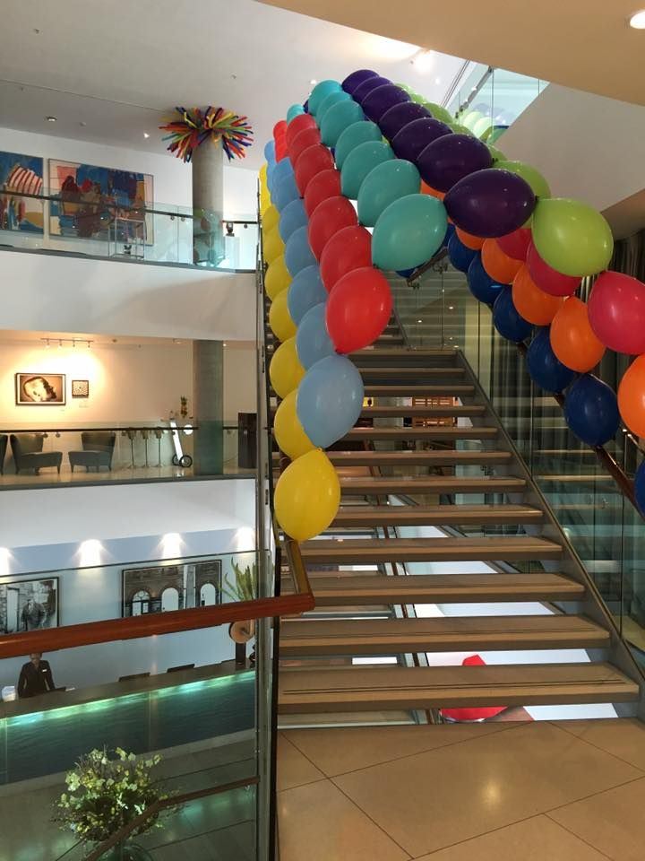 This balloon archway up to The Lowry Hotel's conference floor definitely creates an entrance
